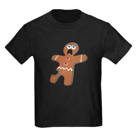 Gingerbread Boy Kids Dark T-Shirt