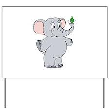 Elephant & Dreidel Yard Sign