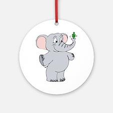 Elephant & Dreidel Ornament (Round)