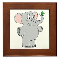 Elephant & Dreidel Framed Tile