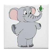 Elephant & Dreidel Tile Coaster