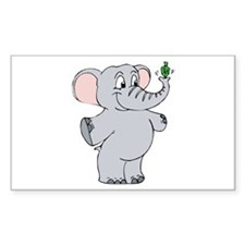 Elephant & Dreidel Rectangle Decal