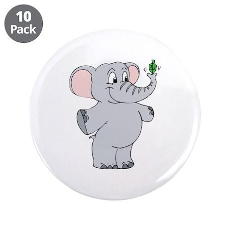 """Elephant & Dreidel 3.5"""" Button (10 pack)"""