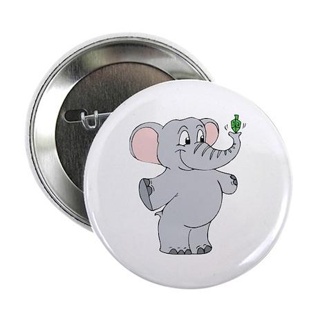 """Elephant & Dreidel 2.25"""" Button (100 pack)"""