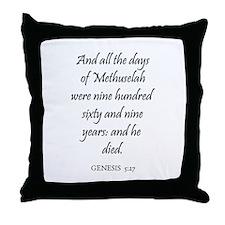 GENESIS  5:27 Throw Pillow