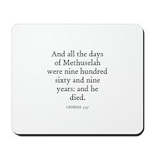 GENESIS  5:27 Mousepad