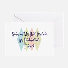 Badminton Players Friends Greeting Card