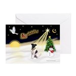 Night Flight/Fox Ter #1 Greeting Card
