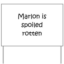 Funny Marlon Yard Sign