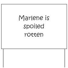 Funny Marlene Yard Sign