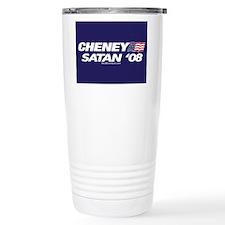 """Cheney-Satan '08"" Travel Coffee Mug"