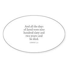 GENESIS 5:20 Oval Decal