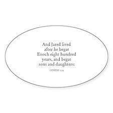 GENESIS 5:19 Oval Decal