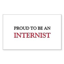 Proud To Be A INTERNIST Rectangle Sticker