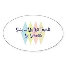 Archivists Friends Oval Decal