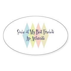 Archivists Friends Oval Sticker (10 pk)