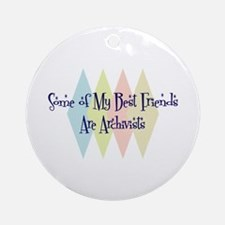 Archivists Friends Ornament (Round)
