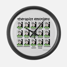 therapist emotions Large Wall Clock