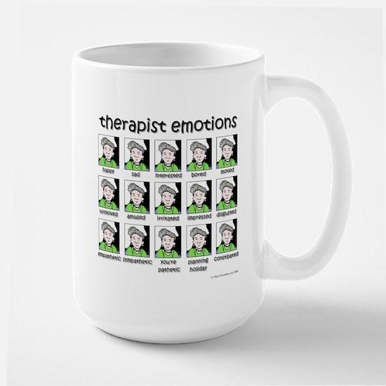 therapist emotions Large Mug
