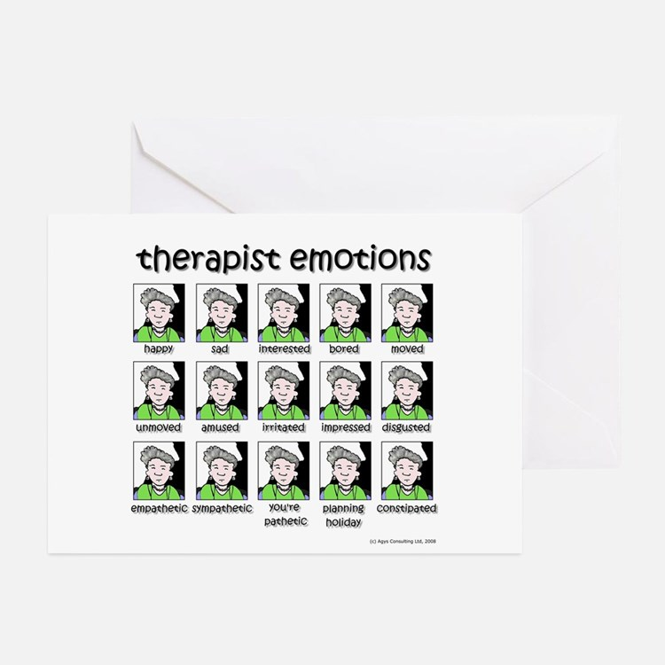 therapist emotions Greeting Cards (Pk of 20)