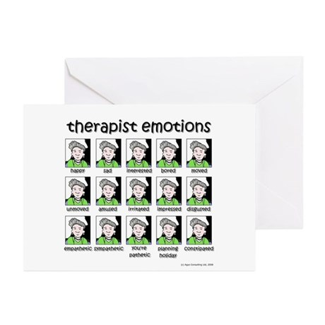 therapist emotions Greeting Cards (Pk of 10)