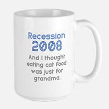 Cat food for Grandma Large Mug