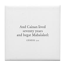 GENESIS  5:12 Tile Coaster
