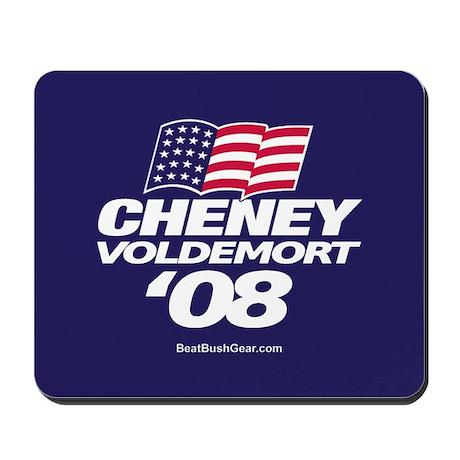"""Cheney-Voldemort '08"" Mousepad"