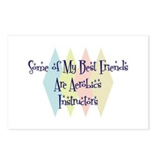 Aerobics Instructors Friends Postcards (Package of