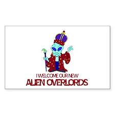 Alien Overlords Rectangle Sticker 10 pk)