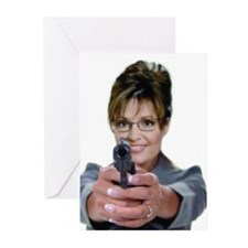 Sarah Palin With A Gun Greeting Cards (Pk of 10)