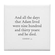 GENESIS  5:5 Tile Coaster