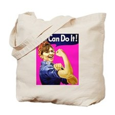 We Can Do It! - Pink Tote Bag