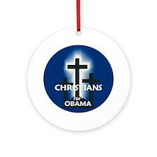 Christians for Obama Ornament (Round)