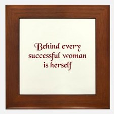 Successful Woman Framed Tile