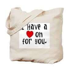 'Heart On' Tote Bag
