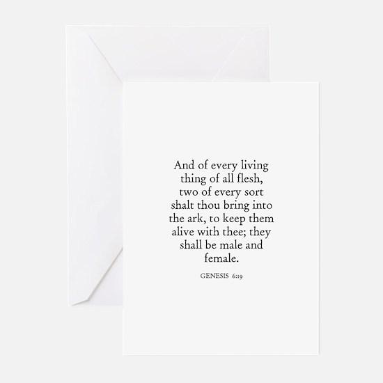 GENESIS  6:19 Greeting Cards (Pk of 10)