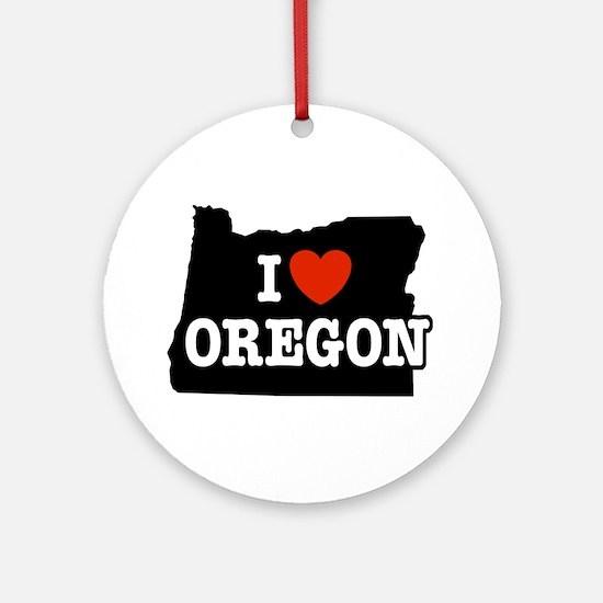 I Love Oregon Keepsake (Round)