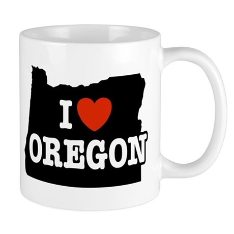 I Love Oregon Mug
