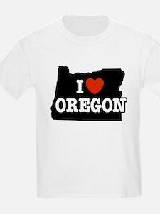 I Love Oregon Kids T-Shirt