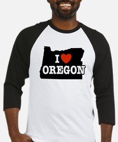 I Love Oregon Baseball Jersey