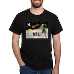Night Flight/4 Poodles Dark T-Shirt