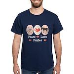 Peace Love Ponies Dark T-Shirt