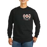 Peace Love Ponies Long Sleeve Dark T-Shirt