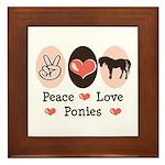 Peace Love Ponies Framed Tile