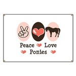 Peace Love Ponies Banner
