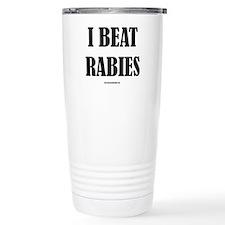 I Beat Rabies Travel Coffee Mug