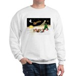 Night Flight/5 Yorkies Sweatshirt