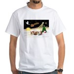 Night Flight/5 Yorkies White T-Shirt