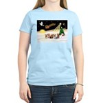 Night Flight/5 Yorkies Women's Light T-Shirt